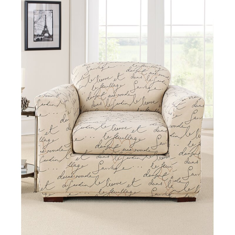 Sure Fit Stretch Pen Pal By Waverly Box Cushion Armchair Slipcover Reviews Wayfair