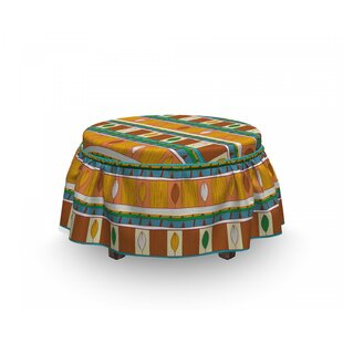 Native and Motif Ottoman Slipcover (Set of 2) by East Urban Home
