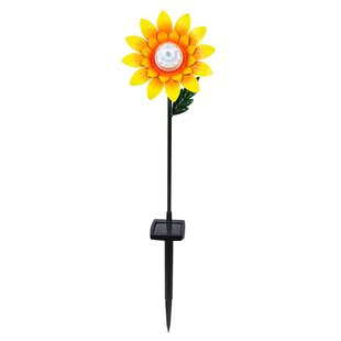 Superbe Rotating Sunflower Garden Stake (Set Of 2)