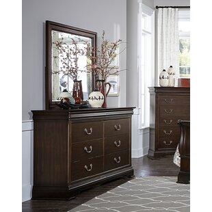Hebden 6 Drawer Double Dresser with Mirror