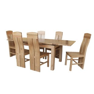 Pecor 9 Piece Extendable Dining Set by Loon Peak No Copount
