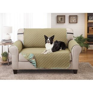 Printed T-Cushion Loveseat Slipcover By Bay Isle Home