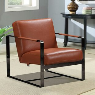 Schillinger Leather Armchair by 17 Stories