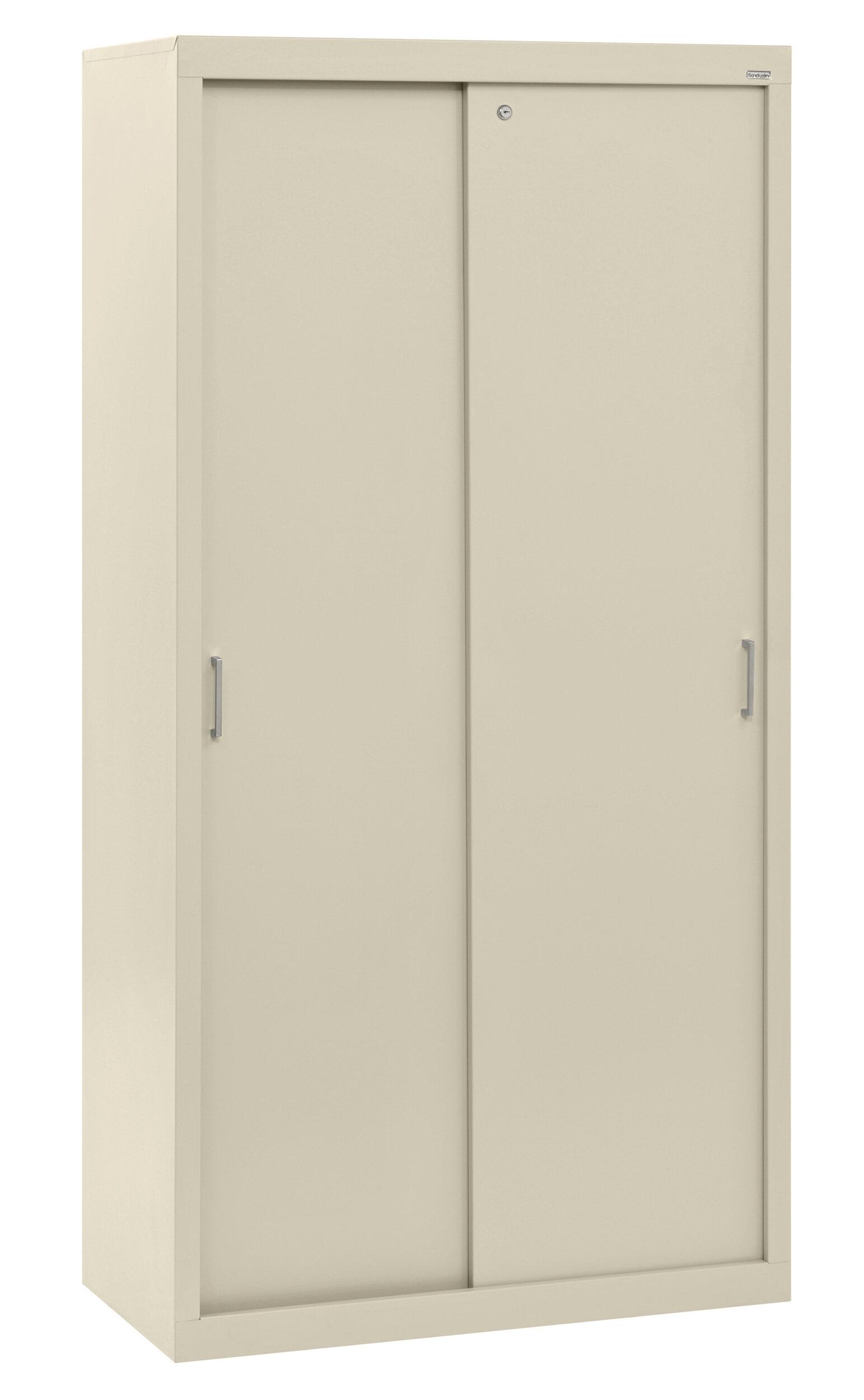 Sandusky Sliding Door Storage Cabinets 5 Shelf Storage Cabinet Reviews Wayfair