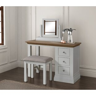 Leadington Dressing Table Set With Mirror By Beachcrest Home