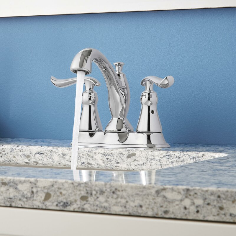 Delta Linden Centerset Bathroom Faucet With Drain Assembly