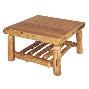Traditional Cedar Log Coffee Table by Fireside Lodge