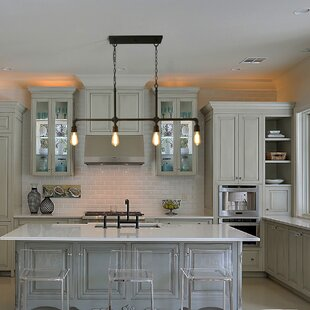 Gracie Oaks Shoreland 4-Light Kitchen Island Pendant