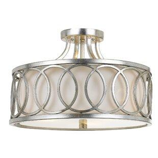 Brayden Studio Templeman 3-Light LED Semi-Flush Mount