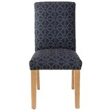 Hein Cotton Parsons Chair in Black by Wrought Studio™