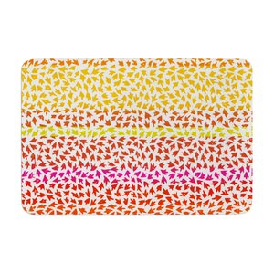 Sreetama Ray Sunset Arrows Abstract Memory Foam Bath Rug