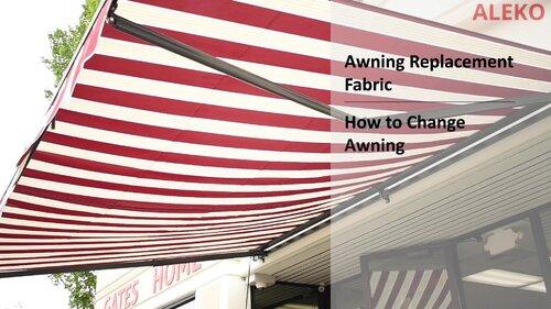 Aleko 138 W X 120 D Manual Retraction Slope Patio Awning Reviews Wayfair