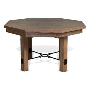 Waldron Solid Wood Dining Table by Loon Peak