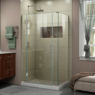 DreamLine Unidoor-X 40 1/2 in. W x 30 3/8 in. D x 72 in. H Frameless Hinged Shower Enclosure