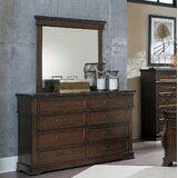 Donnelly 8 Drawer Double Dresser with Mirror by Millwood Pines