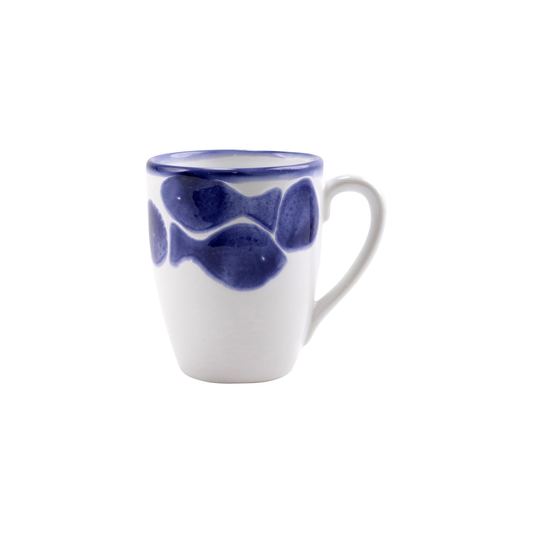 Viva By Vietri Santorini Fish Coffee Mug Wayfair