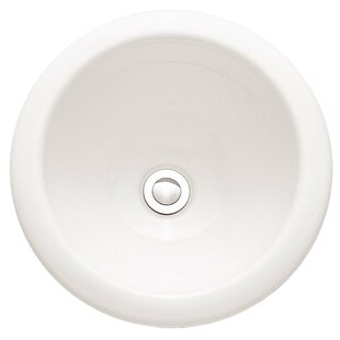 Roxalyn Ceramic Circular Countertop Bathroom Sink with Overflow By American Standard