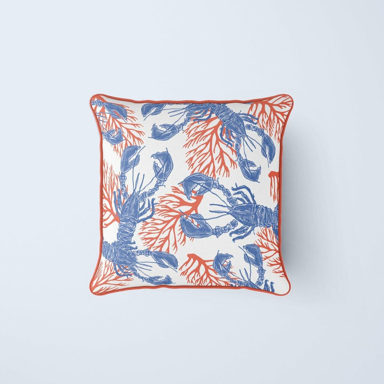 Hand Woven Lobster /& Anchor Cushion