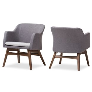 Victoria Mid-Century Modern Fabric Armchair (Set of 2) by Wholesale Interiors