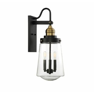Best Price Poplar 3-Light LED Outdoor Sconce By Trent Austin Design