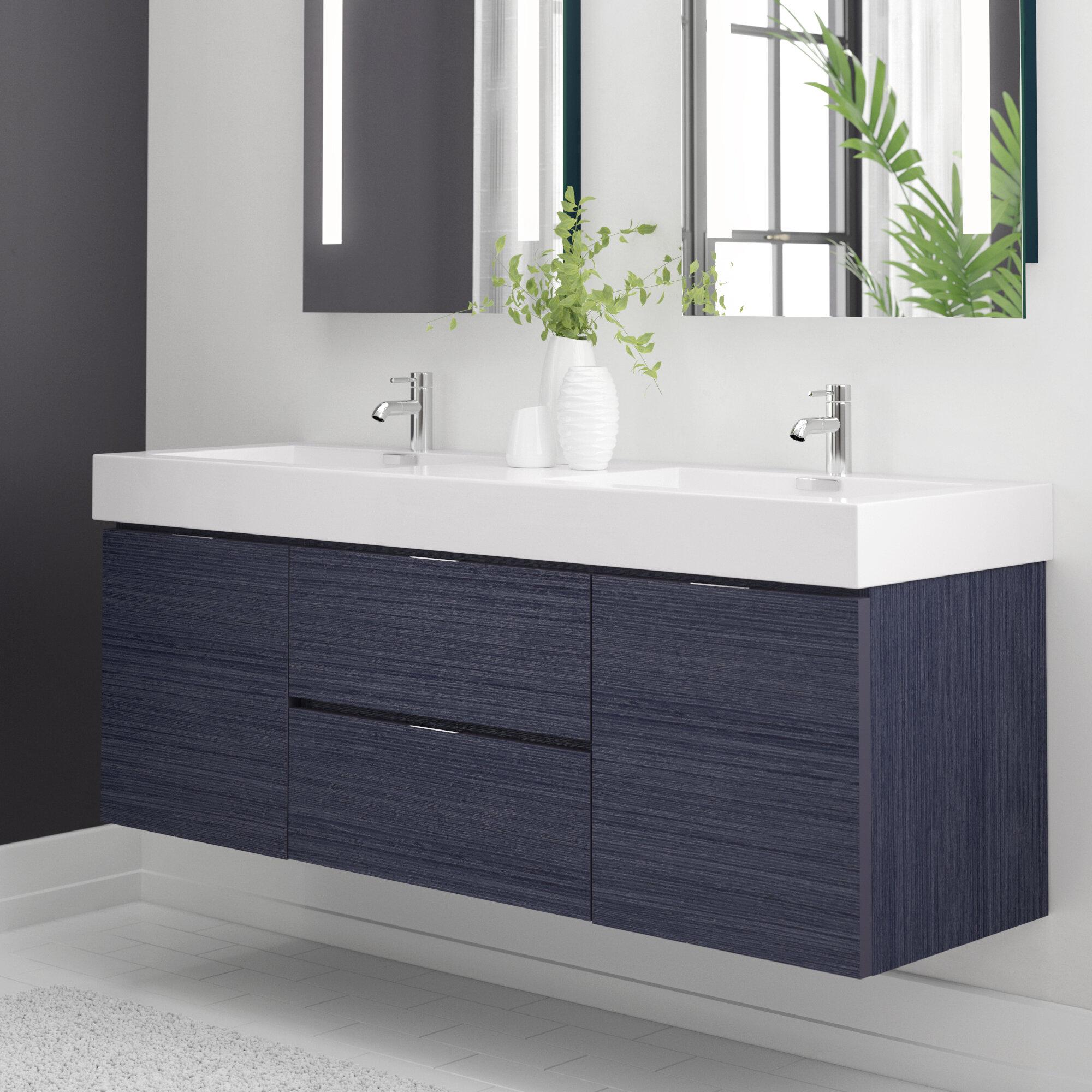 Wayfair 60 Inch Wall Mounted Floating Bathroom Vanities You Ll Love In 2021