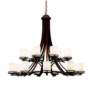 Andover Mills Clarkshire 15-Light Shaded Chandelier