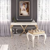Kepler Vanity Set with Stool and Mirror by Rosdorf Park