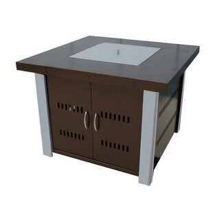 AZ Patio Heaters Hiland Stainless Steel Propane Fire Pit Table
