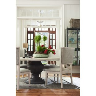 Tennille Fabric 5 Piece Solid Wood Dining Set