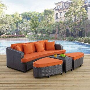 Monterey 4 Piece Rattan Sofa Set with Cushions
