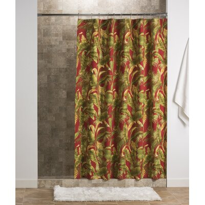 Adamstown At Home Captiva Cotton Unlined Button Holes at Top Single Shower Curtain