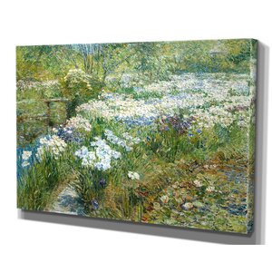 'The Water Garden' by Childe Hassam Framed Painting Print