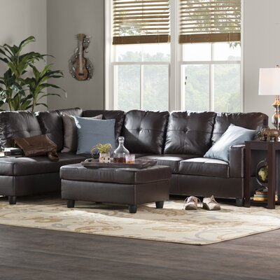Sensational Russ Sectional With Ottoman Andover Mills Upholstery Color Alphanode Cool Chair Designs And Ideas Alphanodeonline