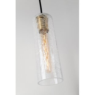 Hulsey 1-Light Cylinder Pendant by Wrought Studio