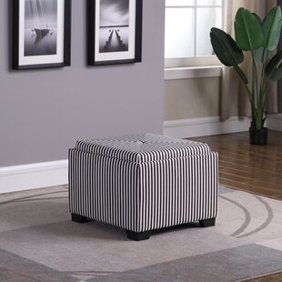 Nathan Stripes Single Tufted Storage Ottoman
