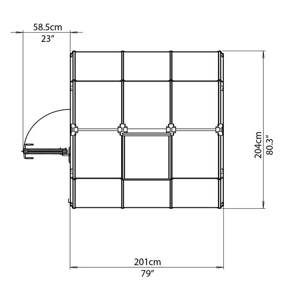 EcoGrow 2 Twin Wall 6 Ft. W x 6 Ft. D Greenhouse