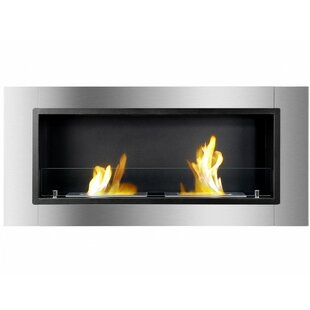 Kuske Recessed Wall Mounted Ethanol Fireplace By Orren Ellis