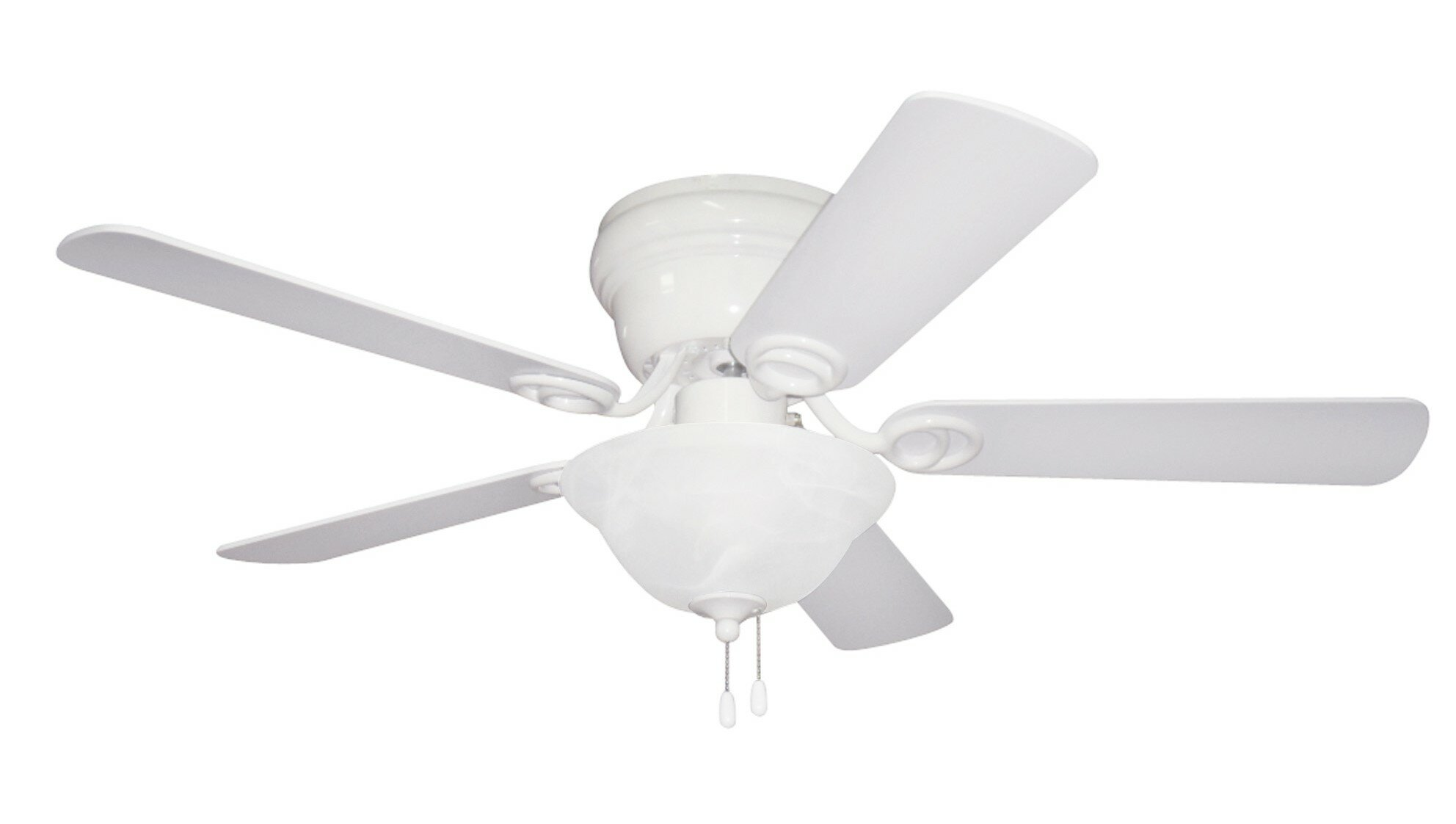 Andover Mills 42 Brandee 5 Blade Flush Mount Ceiling Fan With Pull Chain And Light Kit Included Reviews Wayfair