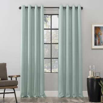 Latitude Run Aaiyana Striped Sheer Grommet Single Curtain Panel Reviews Wayfair