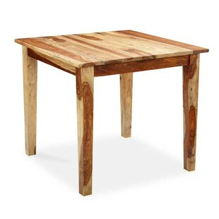 Compare prices Reaves Solid Wood Dining Table By Loon Peak