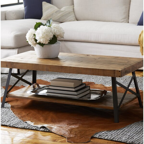 Blonde Wood Coffee Table | Wayfair