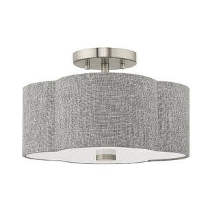Livinia 2-Light Semi Flush Mount by Wrought Studio