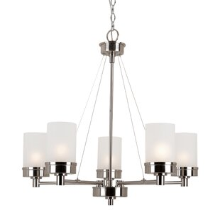 Latitude Run Youngs 5-Light Shaded Chande..