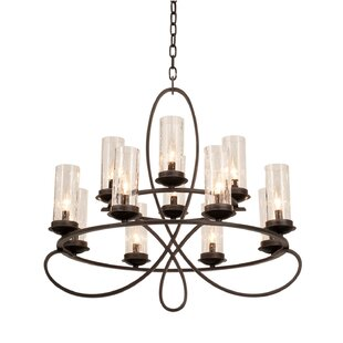 Kalco Grayson 12-Light Wagon Wheel Chandelier