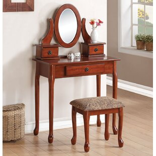 A&J Homes Studio Jonas Vanity Set with Mirror