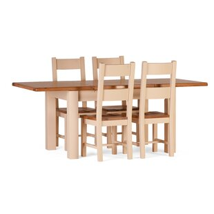 Red Lodge Extendable Dining Set With 4 Chairs By August Grove