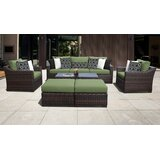 River Brook 8 Piece Rattan Sofa Seating Group with Cushions