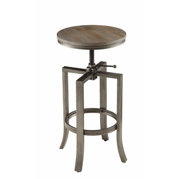 Awe Inspiring Marist Round Chic Adjustable Height Swivel Bar Stool Pabps2019 Chair Design Images Pabps2019Com