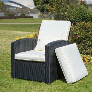 Bayou Breeze Krier Push Back Patio Chair with Cushion