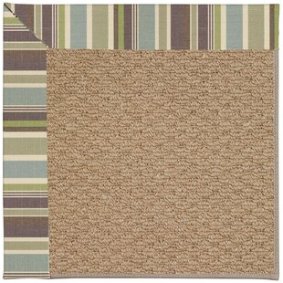 Lisle Machine Tufted Multi-colored/Brown Indoor/Outdoor Area Rug
